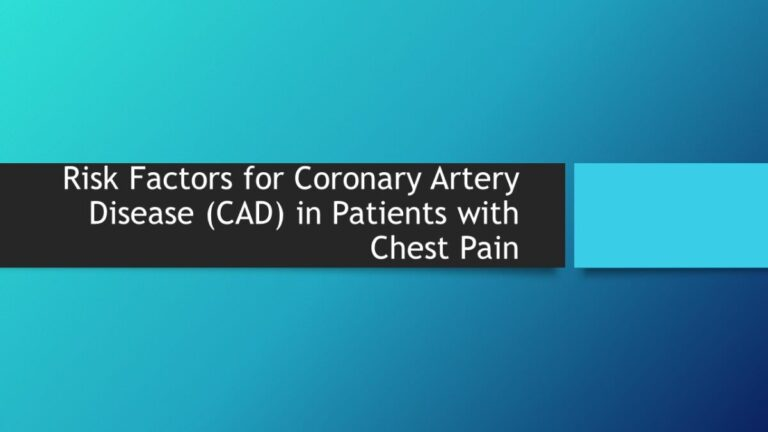 Nontraditional Risk Factors for Coronary Artery Disease (CAD) in Patients with Chest Pain