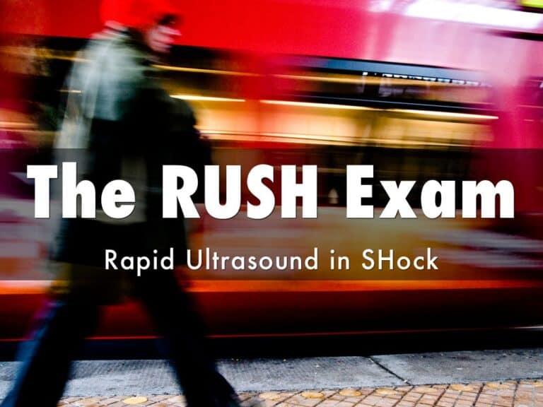 Rapid Ultrasound Exam in Shock (RUSH Exam)