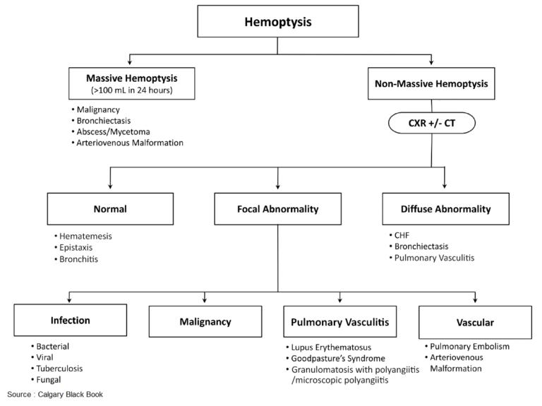 Hemoptysis – Causes, Evaluation and Management