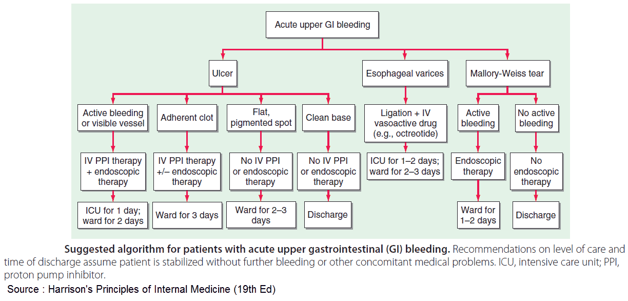 Suggested algorithm for patients with acute upper gastrointestinal (GI) bleeding